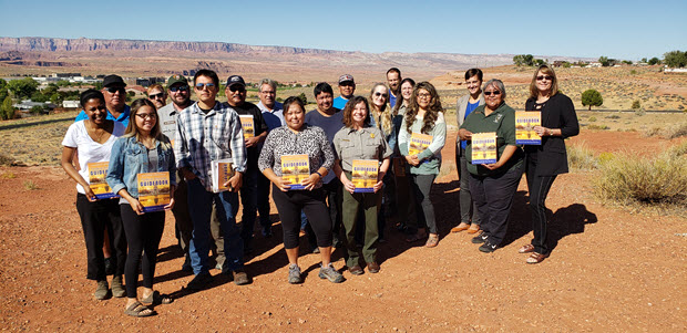 Group picture of the NPS Employees trained in federal resume writing for closing generating station