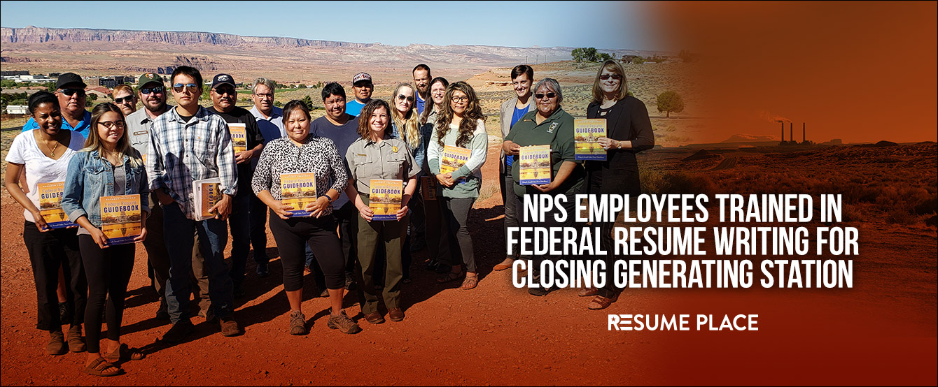 Cover Image with text: NPS Employees trained in federal resume writing for closing generating station